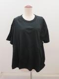 Y's YOHJI YAMAMOTO (ワイズ ヨウジヤマモト),Y'sタックジャガードBタチキリ半袖Tシャツ:ブラック