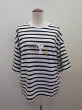 H.A.K (ハク),スヌーピープリント半袖Tシャツ:ボーダー