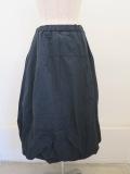 KEI Hayama PLUS(ケイハヤマプリュス),ジュニークハイカウントタフタウエストゴムバルーンスカート:ネイビー