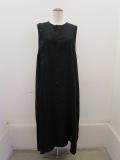 Y's YOHJI YAMAMOTO (ワイズ ヨウジヤマモト),テンセルアシメ釦ドレス:ブラック