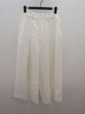 Y's YOHJI YAMAMOTO (ワイズ ヨウジヤマモト),レーヨンリネンイージークロスランダムタックパンツ:ホワイト