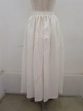 Y's YOHJI YAMAMOTO (ワイズ ヨウジヤマモト),レーヨンリネンイージークロスギャザースカート:ホワイト