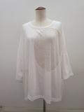 Y's YOHJI YAMAMOTO (ワイズ ヨウジヤマモト),大玉オパール天竺シワビッグTシャツ:オフホワイト