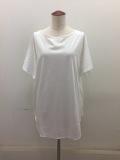 Y's YOHJI YAMAMOTO (ワイズ ヨウジヤマモト),リヨセルコットン天竺BテレコハメコミTシャツ:オフホワイト