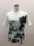 Y's YOHJI YAMAMOTO (ワイズ ヨウジヤマモト),丸首半袖ポピープリントTシャツ:グリーン