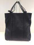 Y's YOHJI YAMAMOTO (ワイズ ヨウジヤマモト),シボマットレザータタミトートバッグ:ブラック