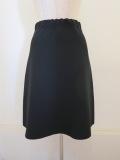 me ISSEY MIYAKE (ミー イッセイミヤケ),ホールガーメントニットセミフレアースカート:ブラック