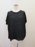 me ISSEY MIYAKE (ミー イッセイミヤケ),ランダムプリーツ半袖Tシャツ:ブラック