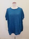 me ISSEY MIYAKE (ミー イッセイミヤケ),ランダムプリーツ半袖Tシャツ:ブルー