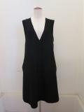 me ISSEY MIYAKE (ミー イッセイミヤケ),ホールガーメントニットジャンバースカート:ブラック