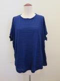me ISSEY MIYAKE (ミー イッセイミヤケ),ツイストプリーツクルーネック半袖Tシャツ:ブルー