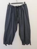 Y's YOHJI YAMAMOTO (ワイズ ヨウジヤマモト),10ozリジッドデニム太裾ギャザーパンツ:インディゴ