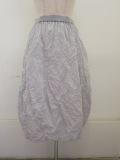 KEI Hayama PLUS(ケイハヤマプリュス),メモリーウエザーキャッチシワ加工ウエストゴムバルーンスカート:ライトグレー
