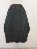 KEI Hayama PLUS(ケイハヤマプリュス),メモリーウエザーキャッチシワ加工ウエストゴムバルーンスカート:ブラック
