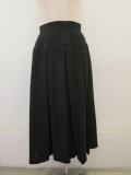 KEI Hayama PLUS(ケイハヤマプリュス),スクエアーガーデンジャガードボックスプリーツスカート:ブラック
