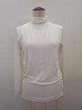 KEI Hayama PLUS(ケイハヤマプリュス),ヴィスコースベア天竺ハイネックTシャツ:ホワイト