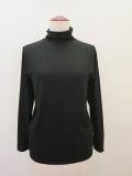 KEI Hayama PLUS(ケイハヤマプリュス),ヴィスコースベア天竺ハイネックTシャツ:ブラック