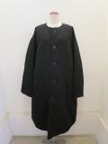 Y's YOHJI YAMAMOTO (ワイズ ヨウジヤマモト),タスランツイル丸首コート:ブラック