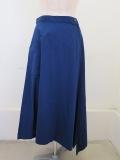 YAMAMOTO (ワイズ ヨウジヤマモト),コットンツイル三角フレアスカート:ブルー