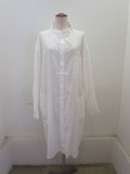 Y's YOHJI YAMAMOTO (ワイズ ヨウジヤマモト),コットンツイルはおりシャツドレス:ホワイト