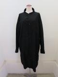 Y's YOHJI YAMAMOTO (ワイズ ヨウジヤマモト),コットンツイルはおりシャツドレス:ブラック