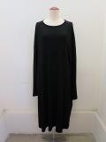 Y's YOHJI YAMAMOTO (ワイズ ヨウジヤマモト),ウールクリアスムース肩タブきプルオーバードレス:ブラック