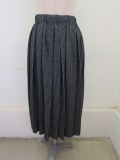 Y's YOHJI YAMAMOTO (ワイズ ヨウジヤマモト),チックジャガードプリーツスカート:ブラック