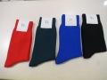 Y's YOHJI YAMAMOTO (ワイズ ヨウジヤマモト),ナイロン天竺定番ソックス:左からレッド/エメラルドグリーン/ブルー/ブラック