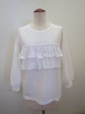 KEI Hayama PLUS(ケイハヤマプリュス),マーブルビンテージ天竺七分袖Tシャツ:ホワイト