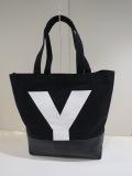 Y's YOHJI YAMAMOTO (ワイズ ヨウジヤマモト),コンビ8号キャンバスYトート:ブラック