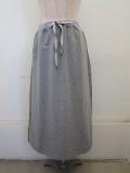 KEI Hayama PLUS(ケイハヤマプリュス),スーピマ裏毛ウエストゴムセミタイトスカート:杢グレー