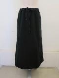 KEI Hayama PLUS(ケイハヤマプリュス),スーピマ裏毛ウエストゴムセミタイトスカート:ブラック