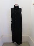 Y's YOHJI YAMAMOTO (ワイズ ヨウジヤマモト),前明きベスト付きドレス:ブラック