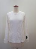 Y's YOHJI YAMAMOTO (ワイズ ヨウジヤマモト),千鳥フクレジャガード長袖Tシャツ:オフホワイト