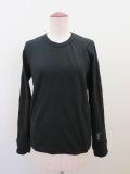 Y's YOHJI YAMAMOTO (ワイズ ヨウジヤマモト),千鳥フクレジャガード長袖Tシャツ:ブラック