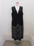 KEI Hayama PLUS(ケイハヤマプリュス),オーナメントモチーフジャガード柄ジャンバースカート:ブラック
