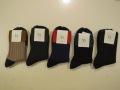 Y's YOHJI YAMAMOTO (ワイズ ヨウジヤマモト).厚手リブソックス:左からイエロー/カーキ/レッド/ブルー/ブラック