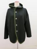 KEI Hayama PLUS(ケイハヤマプリュス),ブークレーフード付きジャケット:ブラック