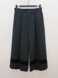KEI Hayama PLUS(ケイハヤマプリュス),ソフトモッサストレッチ八分丈パンツ:ブラック