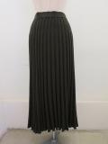 KEI Hayama PLUS(ケイハヤマプリュス),スパーエクストララム7Gホールガーメントニットスカート:カーキ:ブラック