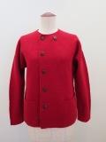 KEI Hayama PLUS(ケイハヤマプリュス),強縮絨ニット8.5G長袖ジャケット:レッド
