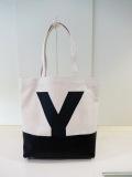 Y's YOHJI YAMAMOTO (ワイズ ヨウジヤマモト),コンビ8号キャンバスYトートバッグ:オフホワイト