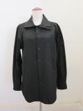 Y's YOHJI YAMAMOTO (ワイズ ヨウジヤマモト) 100/2綿ブロード重ね衿シャツ:ブラック