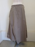 Y's YOHJI YAMAMOTO (ワイズ ヨウジヤマモト) 高密度オックス三角STフレアスカート:ベージュ
