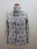 Y's YOHJI YAMAMOTO (ワイズ ヨウジヤマモト) 水玉接結前切替ハイネック長袖Tシャツ:ネイビー