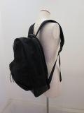 Y's YOHJI YAMAMOTO (ワイズ ヨウジヤマモト) コーデュラナイロン&オイルレザーディバッグ:ブラック