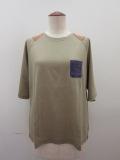ロジェ(ROSIER) リヨセルコットンジャージラグラン五分袖Tシャツ:サウンドカーキ