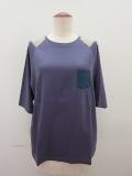 ロジェ(ROSIER) リヨセルコットンジャージラグラン五分袖Tシャツ:アッシュパープル