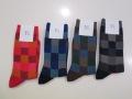 Y's YOHJI YAMAMOTO (ワイズ ヨウジヤマモト)変形ブロックソックス:左からレッド(1)/ブルー(2)/ブラウン(3)/ブラック(4)