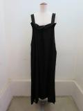 Y's YOHJI YAMAMOTO (ワイズ ヨウジヤマモト) デシンランダムタックドレス:ブラック
